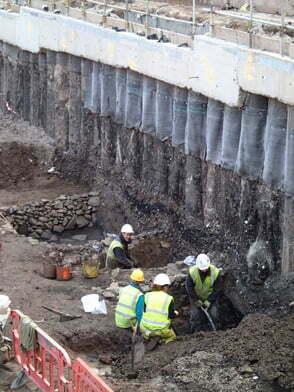 Tanning Tank Under Excavation