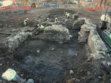 Brewery Remains Under Excavation